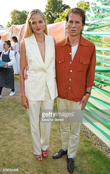 Gabriella Wilde and Alan Pownall attend The Serpentine Gallery summer party at The Serpentine Gallery on July 2 2015 in London England