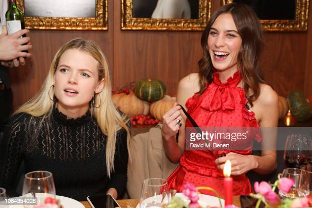 Gabriella Wilde and Alexa Chung wearing ALEXACHUNG attends Alexa Chung's CHUNGSGIVING dinner to celebrate Thanksgiving and the launch of her...
