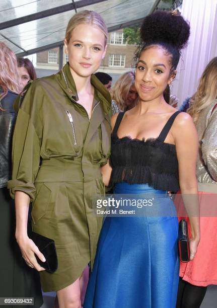 Gabriella Wilde and Pearl Mackie attend the Glamour Women of The Year Awards 2017 in Berkeley Square Gardens on June 6 2017 in London England