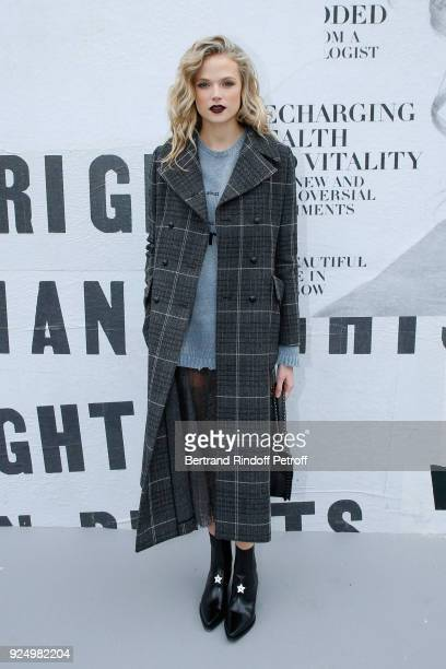 Gabriella Wilde attends the Christian Dior show as part of the Paris Fashion Week Womenswear Fall/Winter 2018/2019 on February 27 2018 in Paris France
