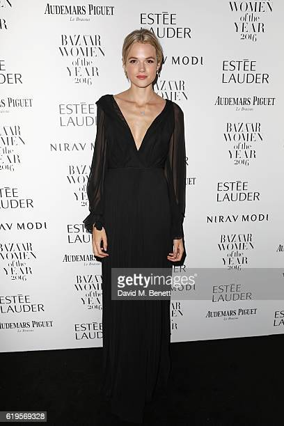 Gabriella Wilde attends the Harper's Bazaar Women of the Year Awards 2016 at Claridge's Hotel on October 31 2016 in London England
