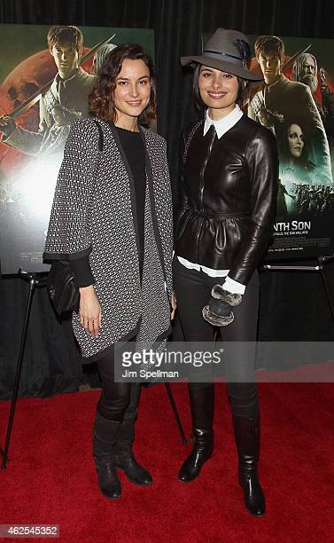 Gabriella Wright and guest attend the 'Seventh Son' special screening at Crosby Street Hotel on January 30 2015 in New York City