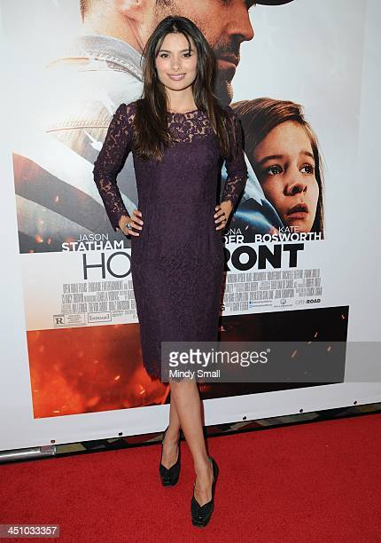 Gabriella Wright arrives at the premiere of HOMEFRONT at Planet Hollywood Resort Casino on November 20 2013 in Las Vegas Nevada