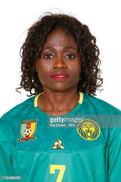 Gabrielle Aboudi Onguene of Cameroon poses for a portrait during the official FIFA Women's World Cup 2019 portrait session at Crowne Plaza...