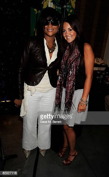 Gabrielle and Lacey Turner attend the fundraising event An Audience With Beverley Knight hosted by Amy Lame in aid of Cancer Research UK and the...