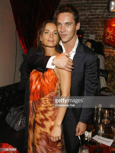 Gabrielle Anwar and Jonathan Rhys Meyers during The Tudors Los Angeles Premiere After Party at Egyptian Theatre in Hollywood California United States