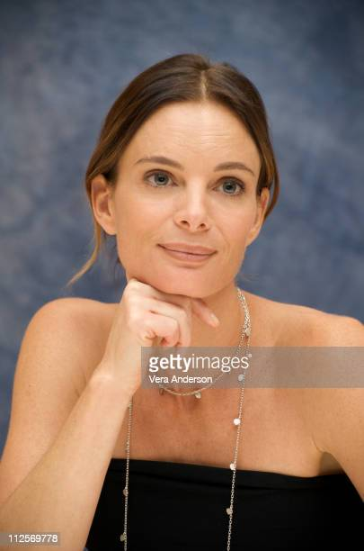 Gabrielle Anwar at the Burn Notice press conference at the Four Seasons Hotel on October 1 2009 in Beverly Hills California