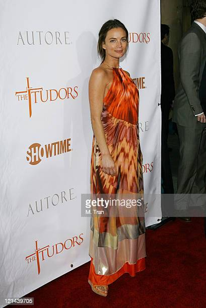 Gabrielle Anwar during The Tudors Los Angeles Premiere Arrivals at Egyptian Theatre in Hollywood California United States