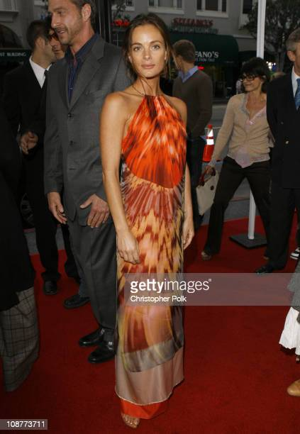 Gabrielle Anwar during The Tudors Los Angeles Premiere Red Carpet at Egyptian Theatre in Hollywood California United States