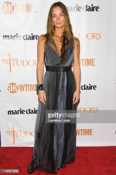 Gabrielle Anwar during The Tudors New York City Premiere Arrivals at Hearst Tower in New York City New York United States