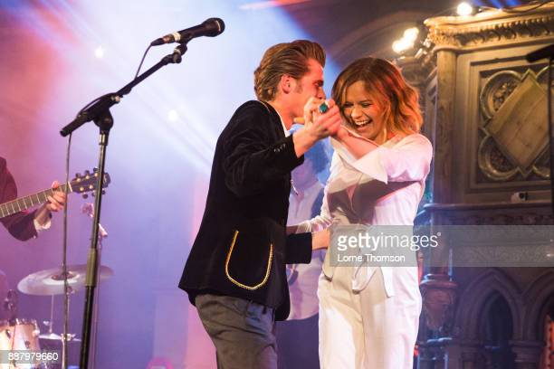Gabrielle Aplin and Alfie HudsonTaylor perform at the Union Chapel on December 7 2017 in London England