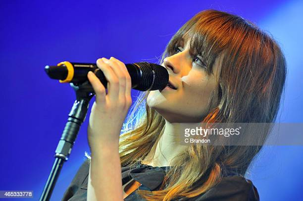 Gabrielle Aplin performs on stage for The Trevor Horn Band concert at O2 Shepherd's Bush Empire on March 5 2015 in London United Kingdom