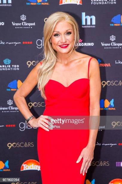 Gabrielle Bartlett from Married at first sight attends the Channel 9 Charity Oscars lunch raising money for the Charlie Teo Foundation at Glass...