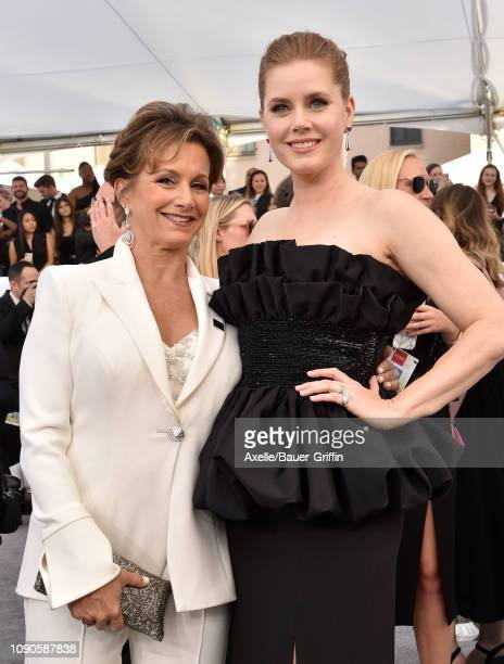Gabrielle Carteris and Amy Adams attend the 25th Annual Screen Actors Guild Awards at The Shrine Auditorium on January 27 2019 in Los Angeles...