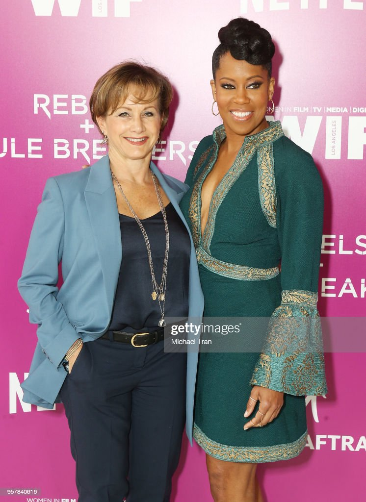 Gabrielle Carteris (L) and Regina King attend the Netflix - 'Rebels and Rules Breakers' for your consideration event held at Netflix FYSee Space on May 12, 2018 in Beverly Hills, California.