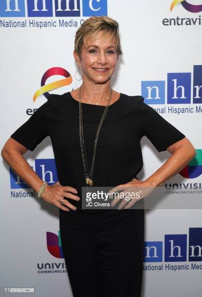 Gabrielle Carteris attends the NHMC's 17th Annual Los Angeles Impact Awards luncheon at Hilton Universal City on August 22 2019 in Universal City...
