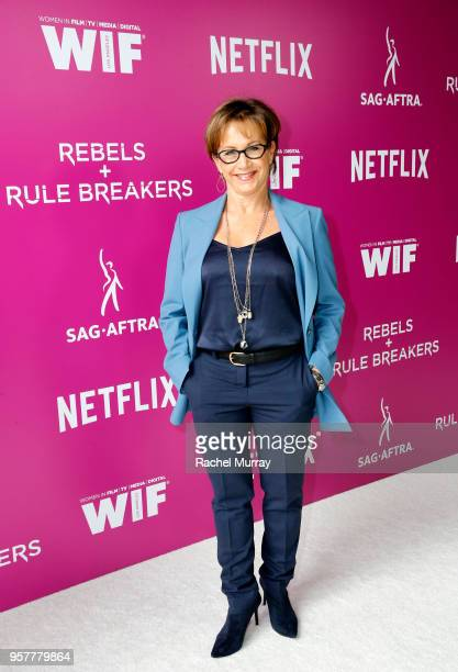 Gabrielle Carteris attends the Rebels and Rule Breakers Panel at Netflix FYSEE at Raleigh Studios on May 12 2018 in Los Angeles California