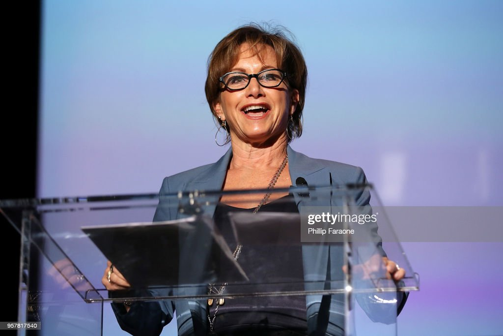 Gabrielle Carteris speaks onstage at the Netflix - Rebels and Rule Breakers For Your Consideration Event at Netflix FYSee Space on May 12, 2018 in Beverly Hills, California.