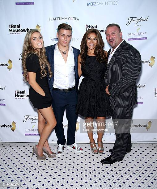 Gabrielle Catania Frank Catania Dolores Catania and Frank Catania attend the Real Housewives Of New Jersey Season 7 Premiere Party at Molos on July...
