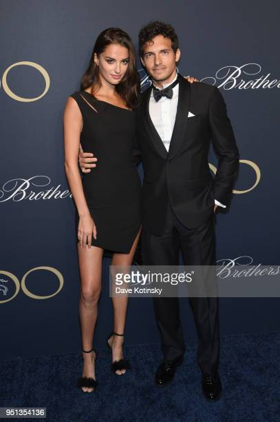 Gabrielle Caunesil and Riccardo Pozzoli attend the Brooks Brothers Bicentennial Celebration at Jazz At Lincoln Center on April 25 2018 in New York...