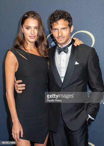 Gabrielle Caunesil and Riccardo Pozzoli attend the Brooks Brothers Bicentennial Celebration at Jazz At Lincoln Center Manhattan