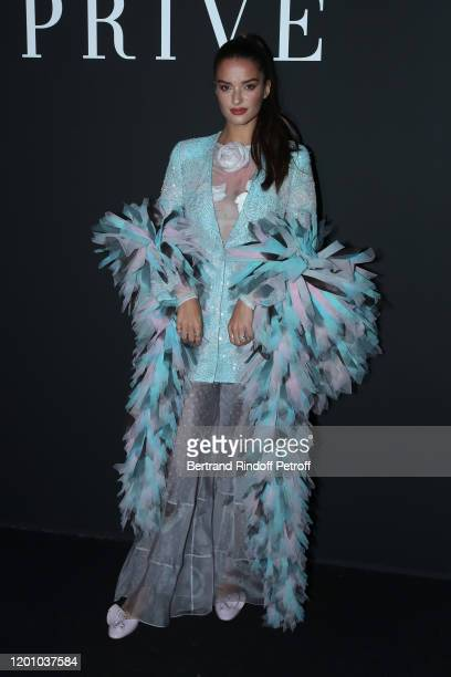 Gabrielle Caunesil attends the Giorgio Armani Prive Haute Couture Spring/Summer 2020 show as part of Paris Fashion Week on January 21 2020 in Paris...