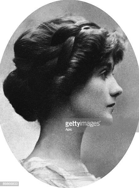 Gabrielle Chasnel called Coco Chanel , french fashion designer, here before 1914