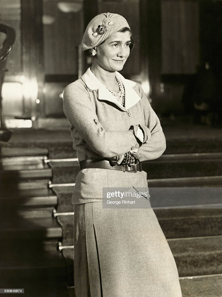 Coco Chanel in Fashionable Clothing : News Photo
