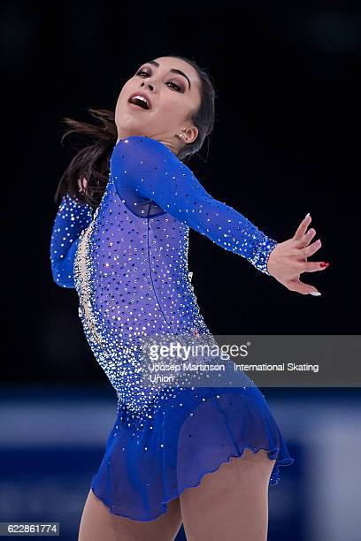 Gabrielle Daleman of Canada competes during Ladies Free Skating on day two of the Trophee de France ISU Grand Prix of Figure Skating at Accorhotels...