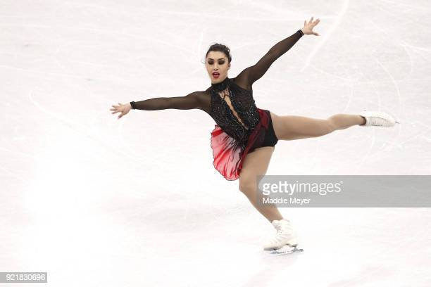 Gabrielle Daleman of Canada competes during the Ladies Single Skating Short Program on day twelve of the PyeongChang 2018 Winter Olympic Games at...