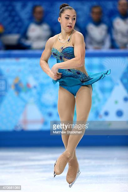 Gabrielle Daleman of Canada competes in the Figure Skating Ladies' Free Skating on day 13 of the Sochi 2014 Winter Olympics at Iceberg Skating Palace...