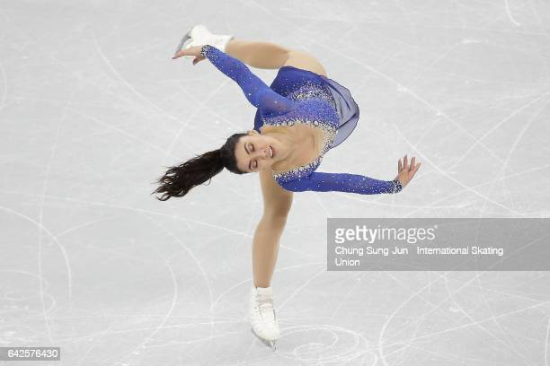 Gabrielle Daleman of Canada competes in the Ladies free program during ISU Four Continents Figure Skating Championships Gangneung Test Event For...