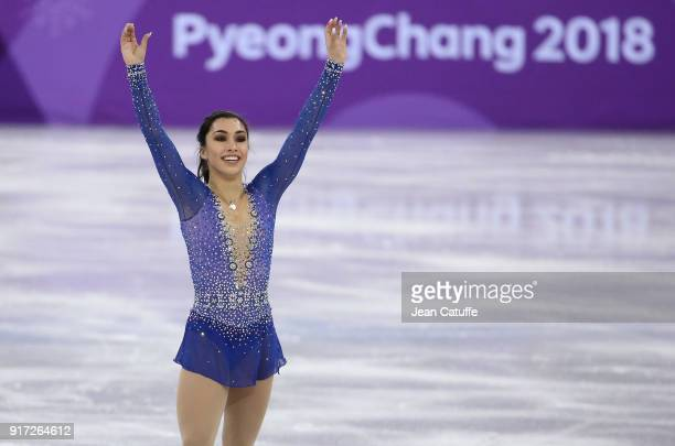 Gabrielle Daleman of Canada competes in the Ladies Free Skating during the Figure Skating Team Event on day three of the PyeongChang 2018 Winter...