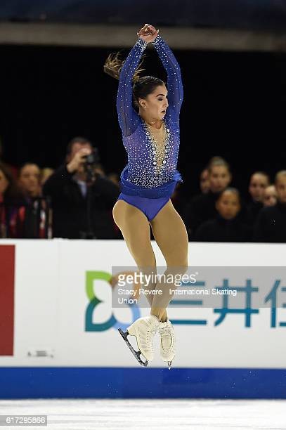 Gabrielle Daleman of Canada performs during the Ladies Long Program on day 2 of the Grand Prix of Skating at the Sears Centre Arena on October 22...