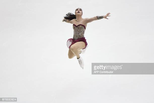 TOPSHOT Gabrielle Daleman of Canada performs during the women's free Skating event of the Cup of China ISU Grand Prix of Figure Skating in Beijing on...