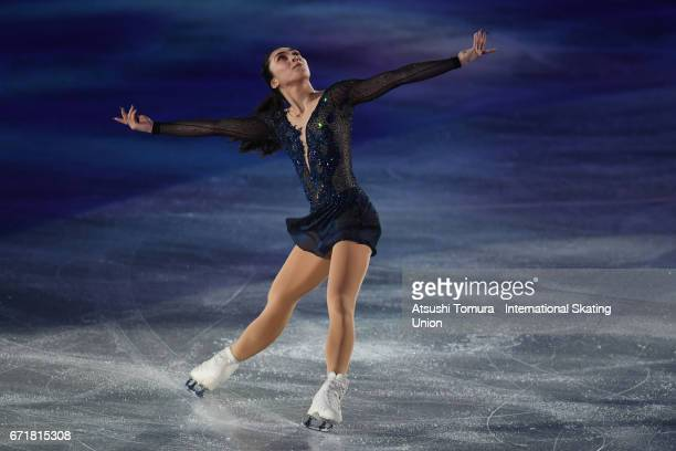Gabrielle Daleman of Canada performs in the gala exhibition during the day 4 of the ISU World Team Trophy 2017 on April 23 2017 in Tokyo Japan