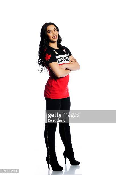 Gabrielle Daleman poses for a portrait during the Canadian Olympic Committee Portrait Shoot on June 3 2017 in Calgary Alberta Canada