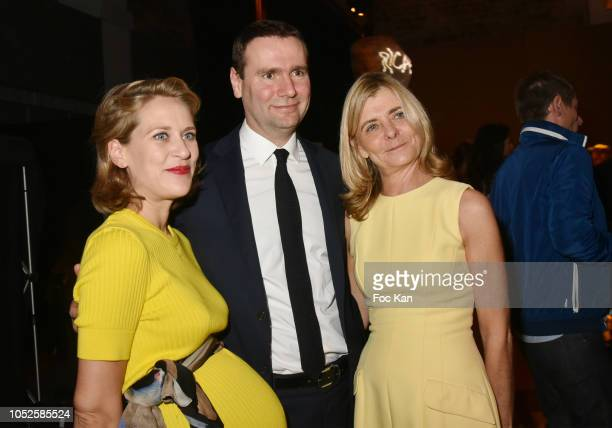 Gabrielle de la Fouchardiere Alexandre Ricard chairman and CEO of Pernod Ricard and Pascale Ricard attend 'Le Bal Jaune 2018' 20th Anniversary at...