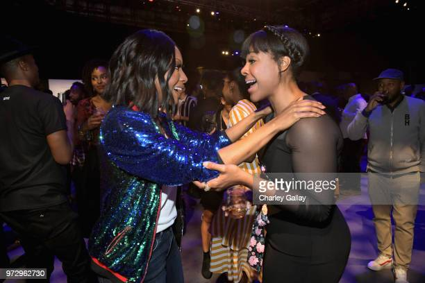 Gabrielle Dennis and Courtney Sauls attend Strong Black Lead party during Netflix FYSEE at Raleigh Studios on June 12 2018 in Los Angeles California