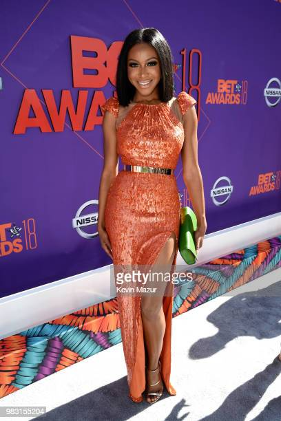 Gabrielle Dennis attends the 2018 BET Awards at Microsoft Theater on June 24 2018 in Los Angeles California