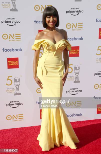 Gabrielle Dennis attends the 50th NAACP Image Awards at Dolby Theatre on March 30 2019 in Hollywood California
