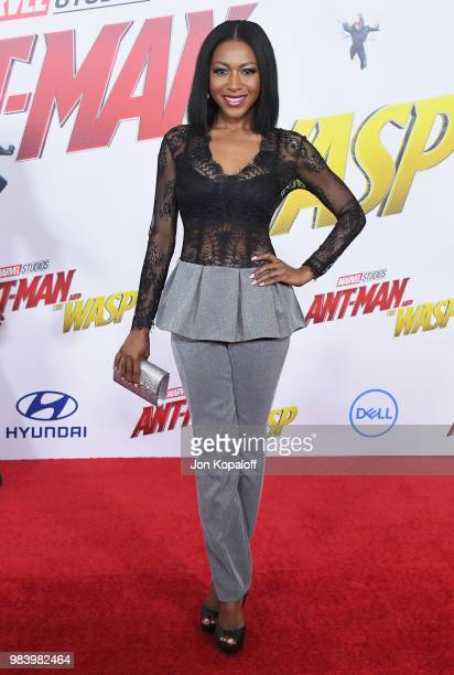 Gabrielle Dennis attends the premiere of Disney And Marvel's 'AntMan And The Wasp' at the El Capitan Theater on June 25 2018 in Hollywood California
