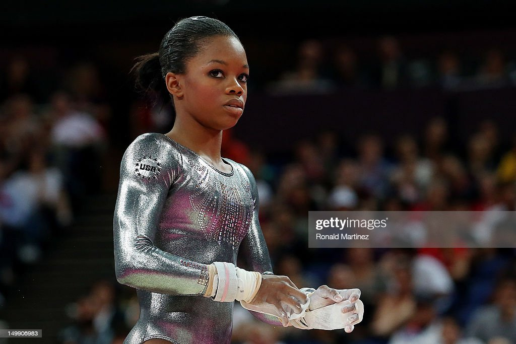 Gabrielle Douglas of the United States competes in the Artistic Gymnastics Women's Uneven Bars final on Day 10 of the London 2012 Olympic Games at North Greenwich Arena on August 6, 2012 in London, England.