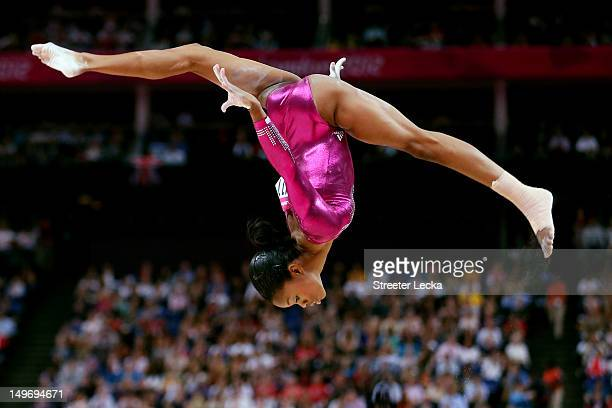 Gabrielle Douglas of the United States competes on the balance beam in the Artistic Gymnastics Women's Individual AllAround final on Day 6 of the...