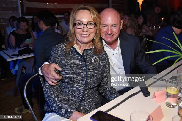 Gabrielle Giffords and Mark Kelly attend Apollo in the Hamptons 2018 Hosted by Ronald O Perelman at The Creeks on August 11 2018 in East Hampton New...