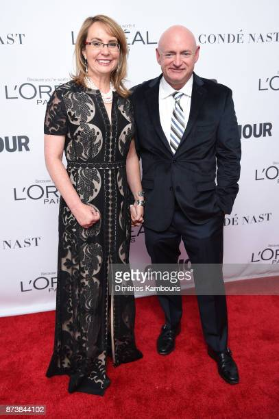 Gabrielle Giffords and Mark Kelly attend Glamour's 2017 Women of The Year Awards at Kings Theatre on November 13 2017 in Brooklyn New York