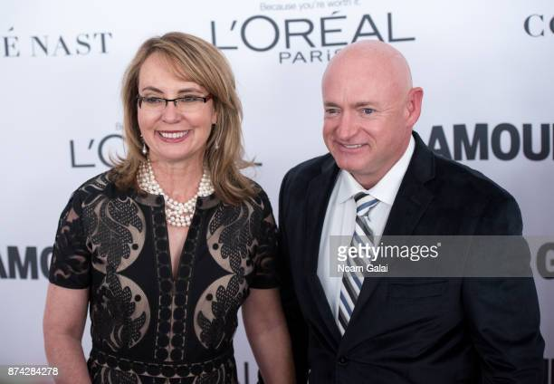 Gabrielle Giffords and Mark Kelly attend the 2017 Glamour Women of The Year Awards at Kings Theatre on November 13 2017 in New York City