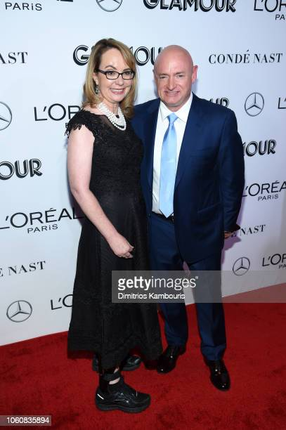 Gabrielle Giffords and Mark Kelly attend the 2018 Glamour Women Of The Year Awards Women Rise on November 12 2018 in New York City