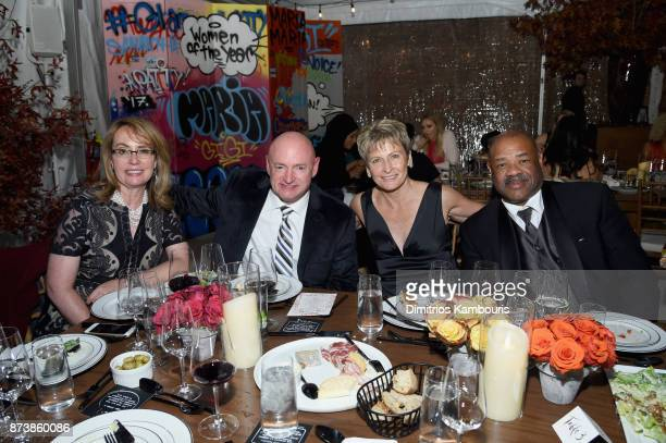 Gabrielle Giffords Mark Kelly and Peggy Whitson attends Glamour's 2017 Women of The Year Awards at Kings Theatre on November 13 2017 in Brooklyn New...