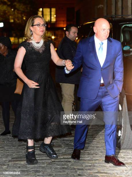 Gabrielle Giffords Mark Kelly are seen in soho on November 12 2018 in New York City